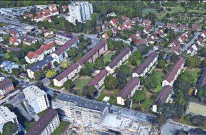 Häuserareal, das abgerissen weden soll